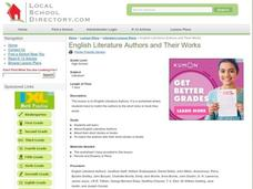 English Literature Authors and Their Works Lesson Plan