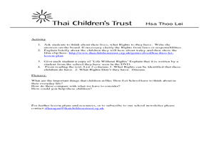 Thai Children's Trust- Human Rights Lesson Plan