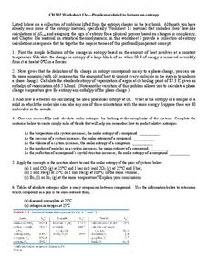 Entropy Worksheet