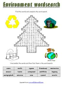 Environment Word Search Worksheet
