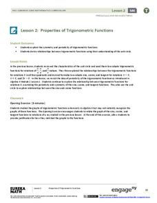 Properties of Trigonometric Functions Assessment