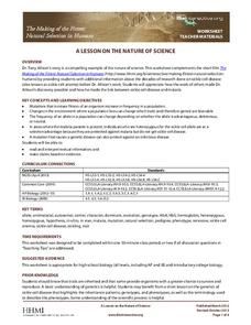 A Lesson on the Nature of Science Lesson Plan
