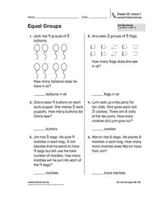 Equal Groups Worksheet