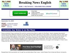 Breaking News English: Moon Water Interactive