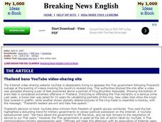 Breaking News English: YouTube Interactive
