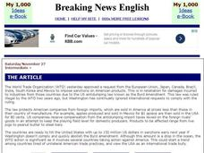 Breaking News English: World Trade Organization Interactive
