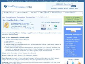 Healthy Choices Chart Lesson Plan