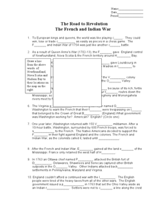 French And Indian War Worksheet Worksheets for all | Download and ...