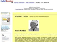 Reading Test -- B1 Level Interactive