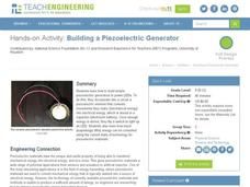 Building a Piezoelectric Generator Activities & Project