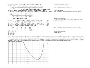 Fundamental Theorem of Algebra Lesson Plans & Worksheets   Lesson Planet