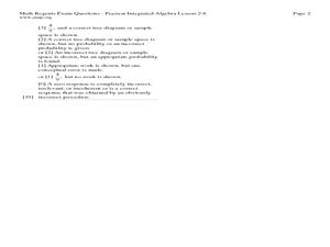 Experimental Probability Lesson Plans & Worksheets