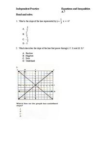 Equations and Inequalities Worksheet