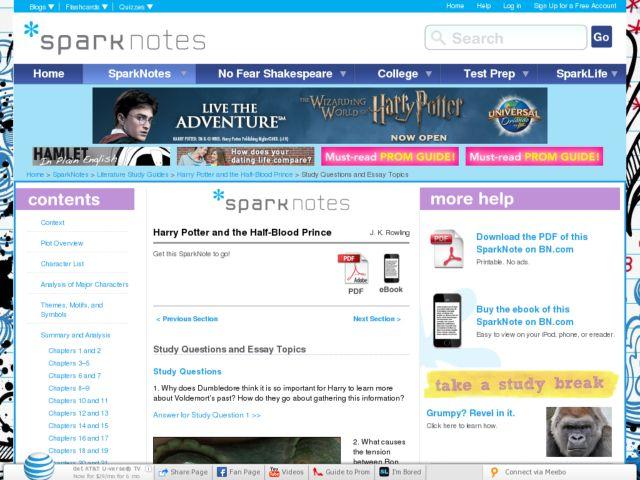 Harry potter essay topics