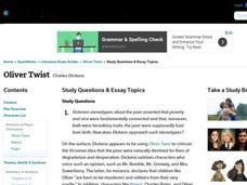 Oliver twist essay topics