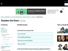 Number the Stars Quiz Interactive
