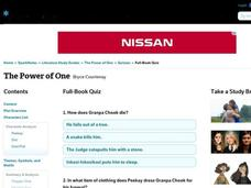 The Power of One Quiz Interactive