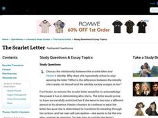 Scarlet letter essay questions