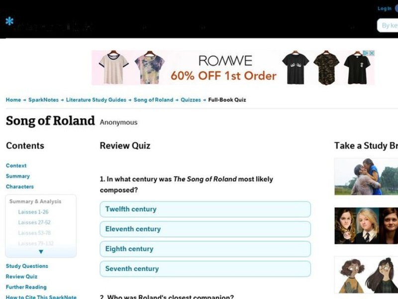 song of roland online