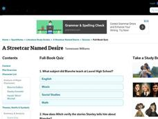 A Streetcar Named Desire Quiz Interactive