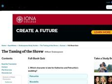 The Taming of the Shrew Quiz Interactive