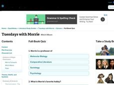 Tuesdays with Morrie Quiz Interactive