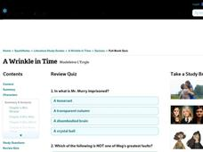 A Wrinkle in Time Review Quiz Interactive
