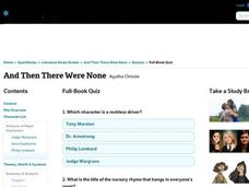 And Then There Were None Quiz Interactive