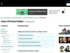 Anne of Green Gables Quiz Interactive