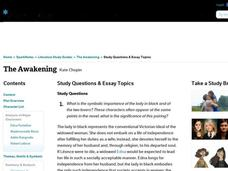 The Awakening Study Questions & Essay Topics Interactive
