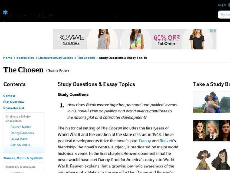 the chosen essay