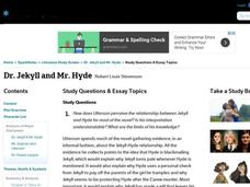 dr jekyll and mr hyde study questions essay topics th dr jekyll and mr hyde study questions essay topics interactive