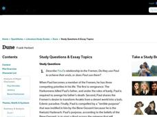dune essay questions The dune affect is a term we coined--after the movie dune--which explains  is  enough to make any reader question the reliability of nuclear technology in a.