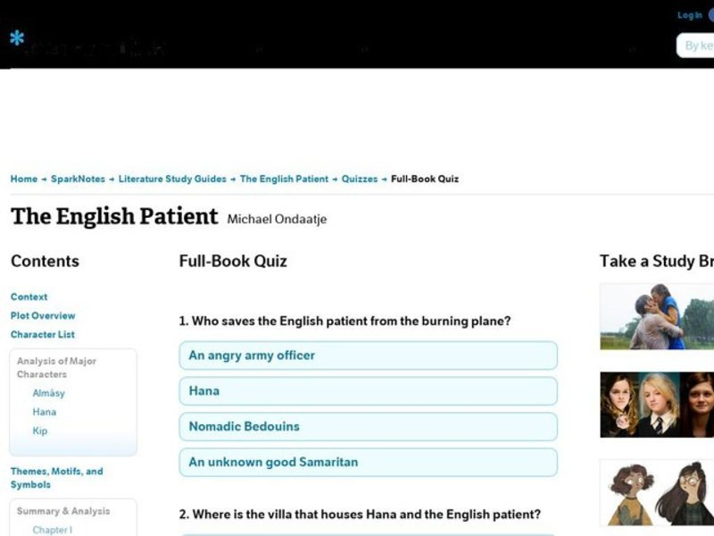 the english patient character analysis