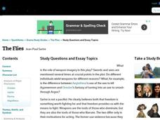 The Flies Study Questions and Essay Topics Interactive