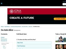 Go Ask Alice Quiz Interactive