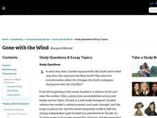 Gone with the Wind Study Questions & Essay Topics Interactive