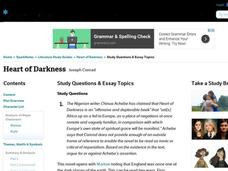 heart of darkness lesson plans worksheets reviewed by teachers heart of darkness study questions essay topics