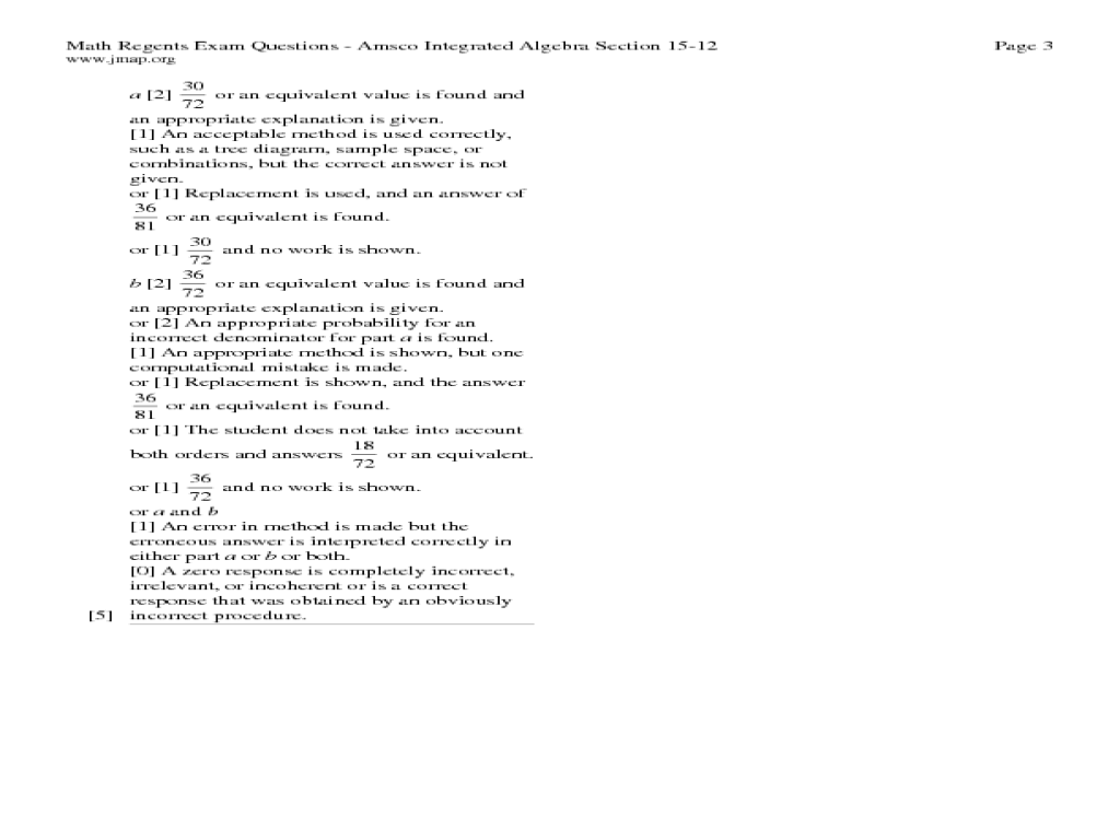 Permutations, Combinations, and Probability Worksheet for