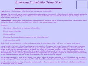 Exploring Probability Lesson Plan