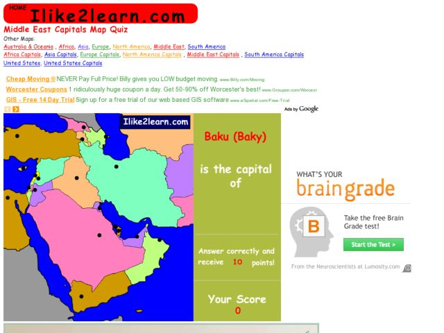 Middle East Map Quiz By Groovingup Teaching Resources - Www
