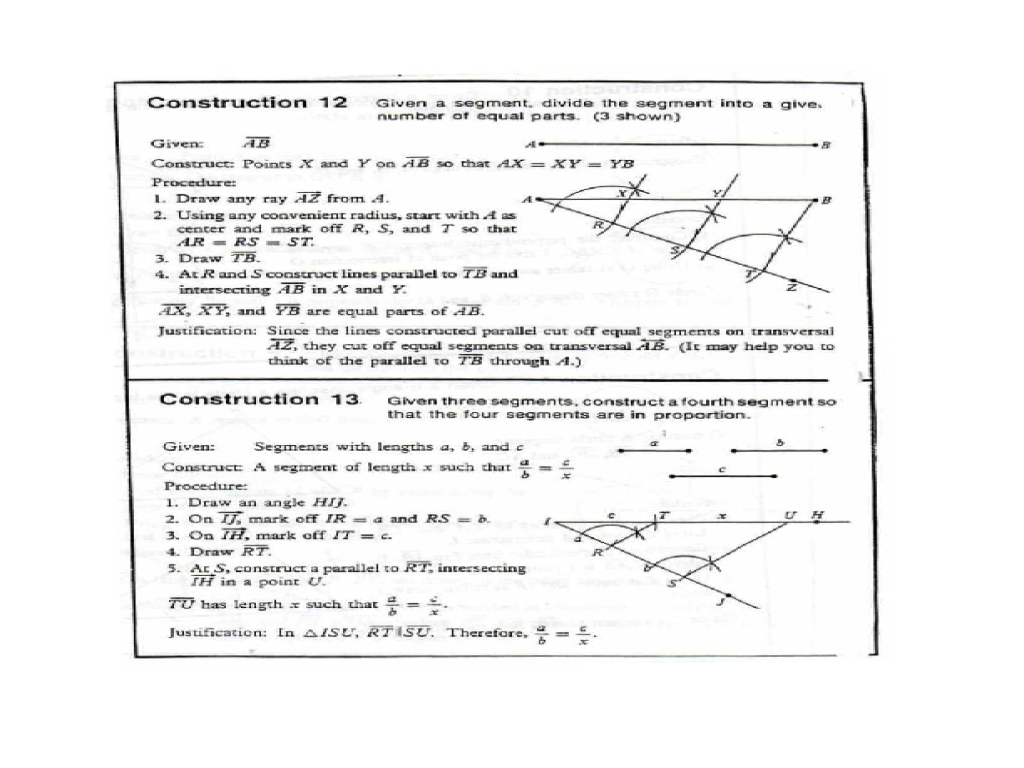 Geometry construction worksheet answers