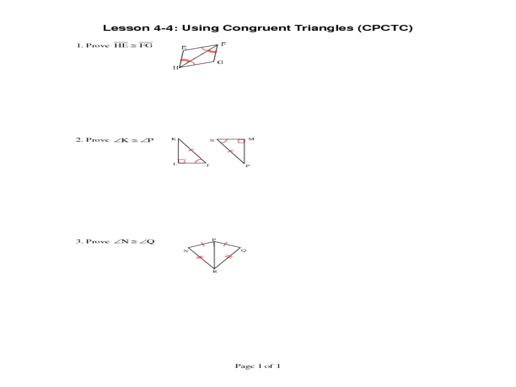 Proving Lines Parallel with Triangle Congruence SSS SAS AAS and ASA also Free Printable Congruent Triangles Worksheets Valid Worksheet Ideas furthermore Geometry Worksheet Congruent Triangles Sss and Sas Answers in addition What Is Cpctc Math Using Congruent Triangles Download Cpctc Geometry also cpctc definition geometry math – happyemail club further Using Congruent Triangles CPCTC   YouTube additionally 4 6  Triangle Congruence   CPCTC   TheMath together with Proving Triangles Congruent likewise  likewise Using Congruent Triangles Worksheet for 10th Grade   Lesson Pla also  as well  besides  additionally Proving Triangles Congruent in addition G2 Topic 9 5 SSS  SAS  ASA Proofs with CPCTC   YouTube in addition Chapter 4  Part 2 Congruent Triangles    ppt download. on using congruent triangles cpctc worksheet