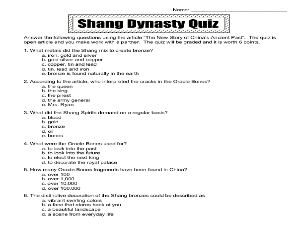 worksheet Ancient China Worksheets the new story of chinas ancient past 6th 9th grade worksheet lesson planet