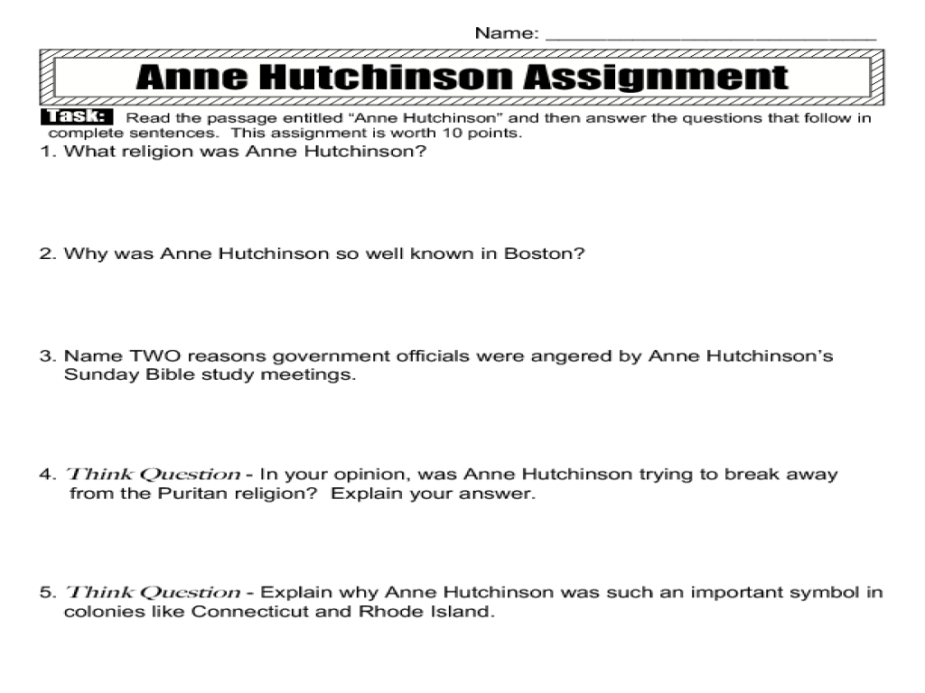 Amendment worksheet answers