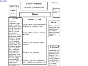 Early Christian Dress Worksheet