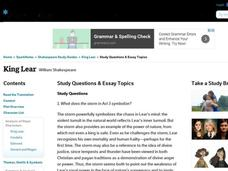 King Lear Study Questions & Essay Topics Interactive