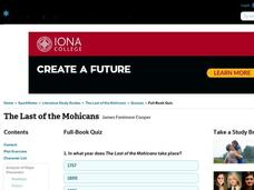 The Last of the Mohicans Quiz Interactive