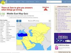 Middle East Map Quiz Interactive