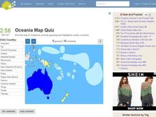 Oceania Map Quiz Interactive for 6th - 12th Grade | Lesson Planet